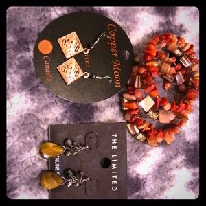 Brand new Earrings and bracelet